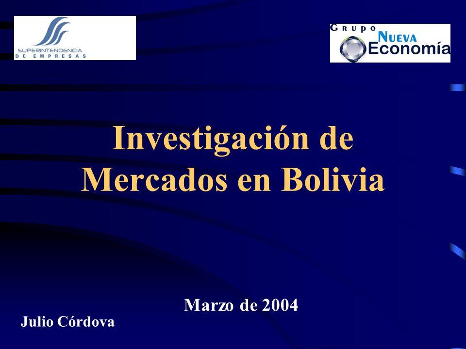 Investigación de Mercados en Bolivia