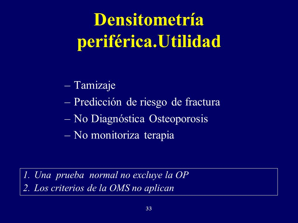 Densitometría periférica.Utilidad