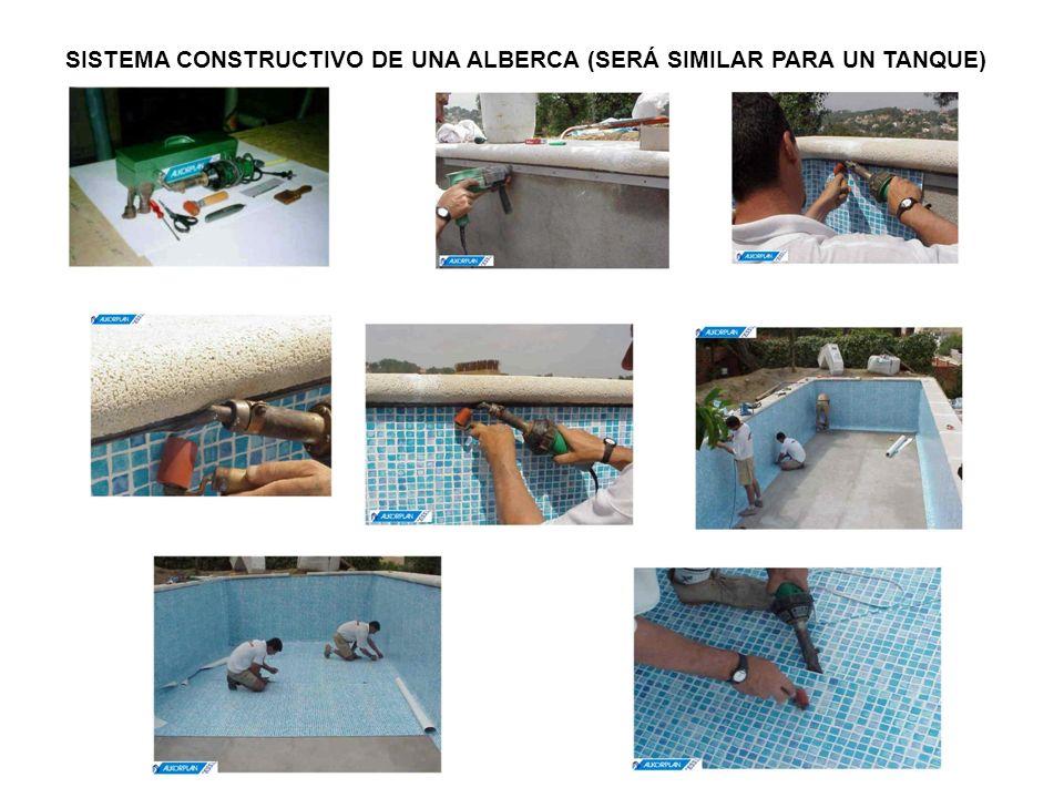 SISTEMA CONSTRUCTIVO DE UNA ALBERCA (SERÁ SIMILAR PARA UN TANQUE)