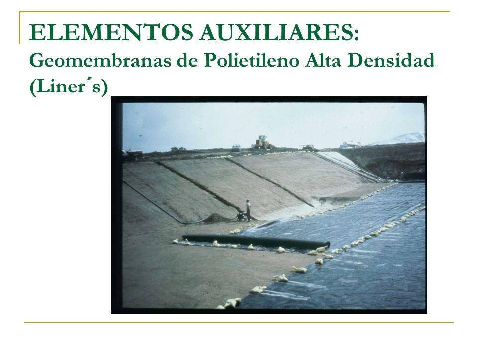 ELEMENTOS AUXILIARES: Geomembranas de Polietileno Alta Densidad (Liner´s)