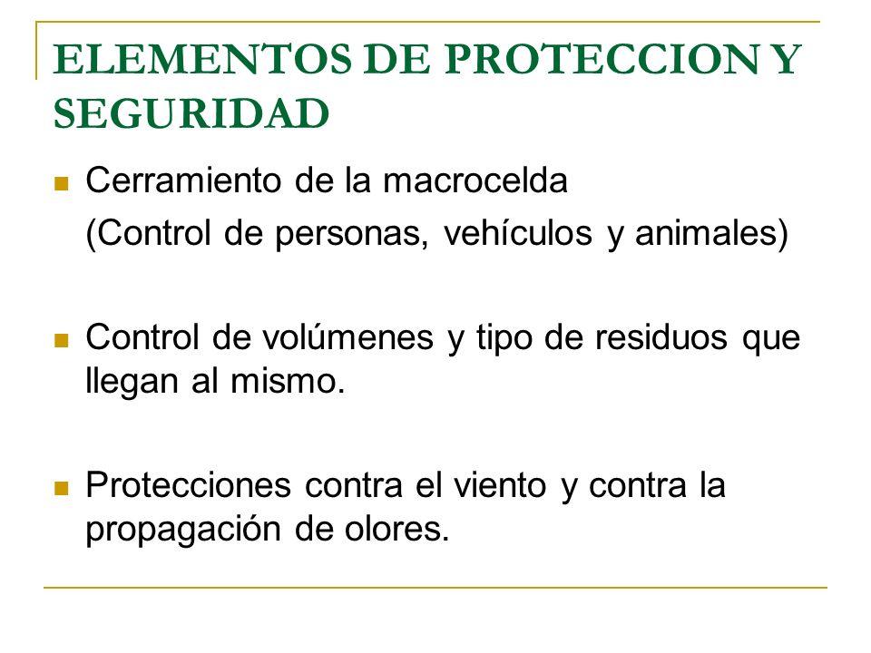 ELEMENTOS DE PROTECCION Y SEGURIDAD