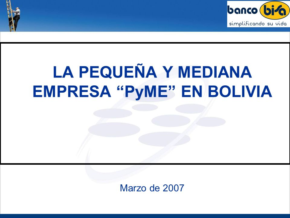LA PEQUEÑA Y MEDIANA EMPRESA PyME EN BOLIVIA