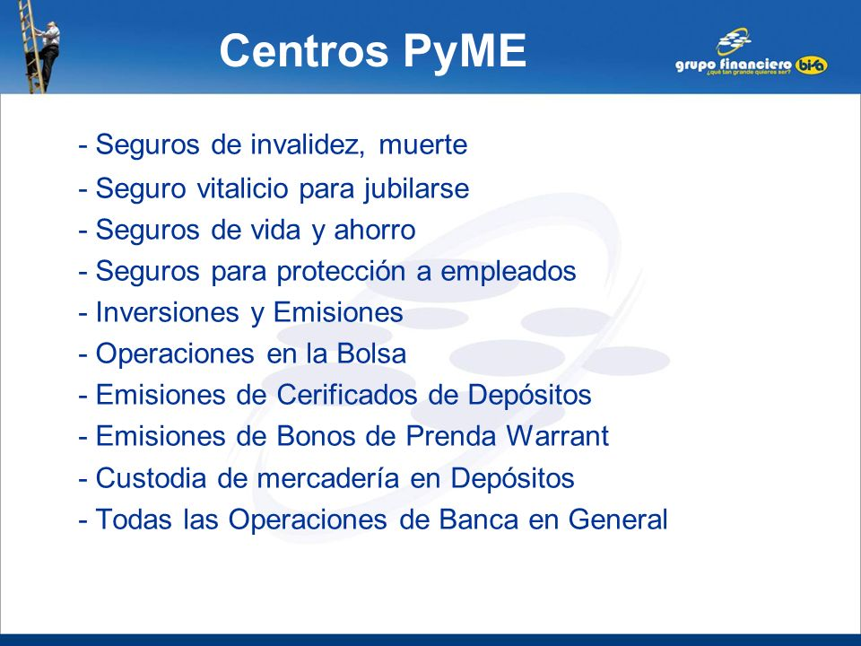 Centros PyME - Seguros de invalidez, muerte
