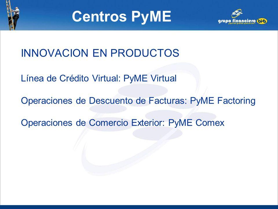 Centros PyME INNOVACION EN PRODUCTOS