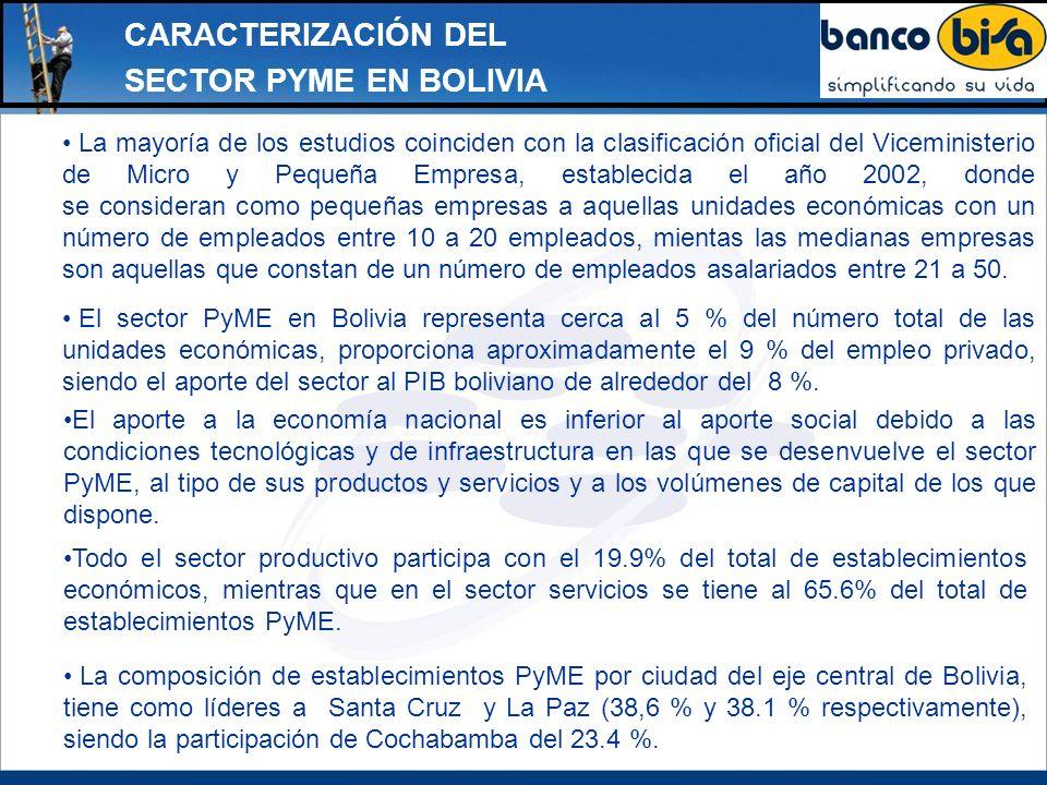 CARACTERIZACIÓN DEL SECTOR PYME EN BOLIVIA