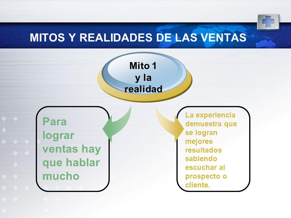 MITOS Y REALIDADES DE LAS VENTAS