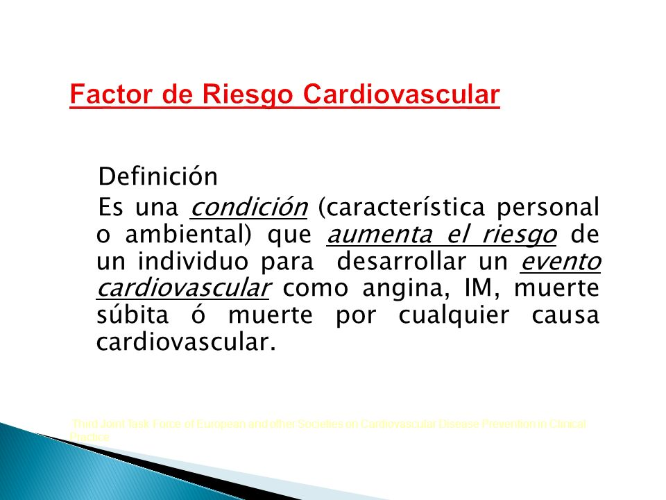 Factor de Riesgo Cardiovascular