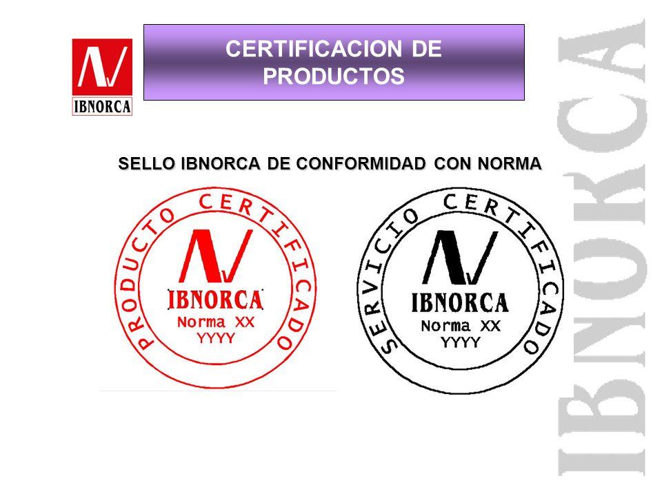 CERTIFICACION DE PRODUCTOS