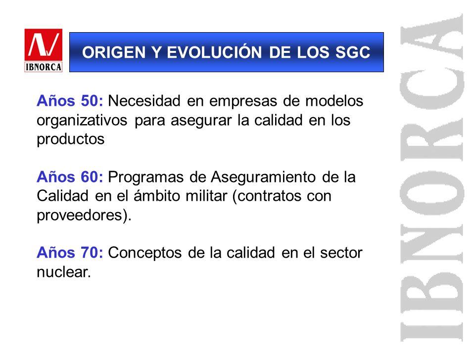 ORIGEN Y EVOLUCIÓN DE LOS SGC