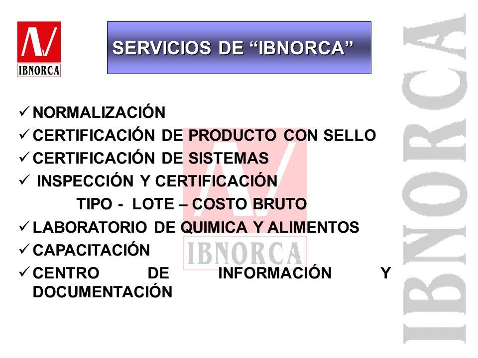 SERVICIOS DE IBNORCA