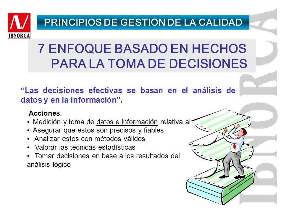 7 ENFOQUE BASADO EN HECHOS PARA LA TOMA DE DECISIONES