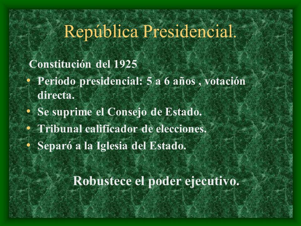República Presidencial.