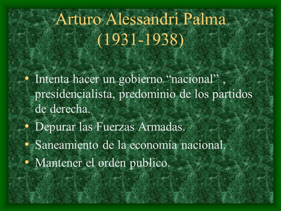 Arturo Alessandri Palma (1931-1938)