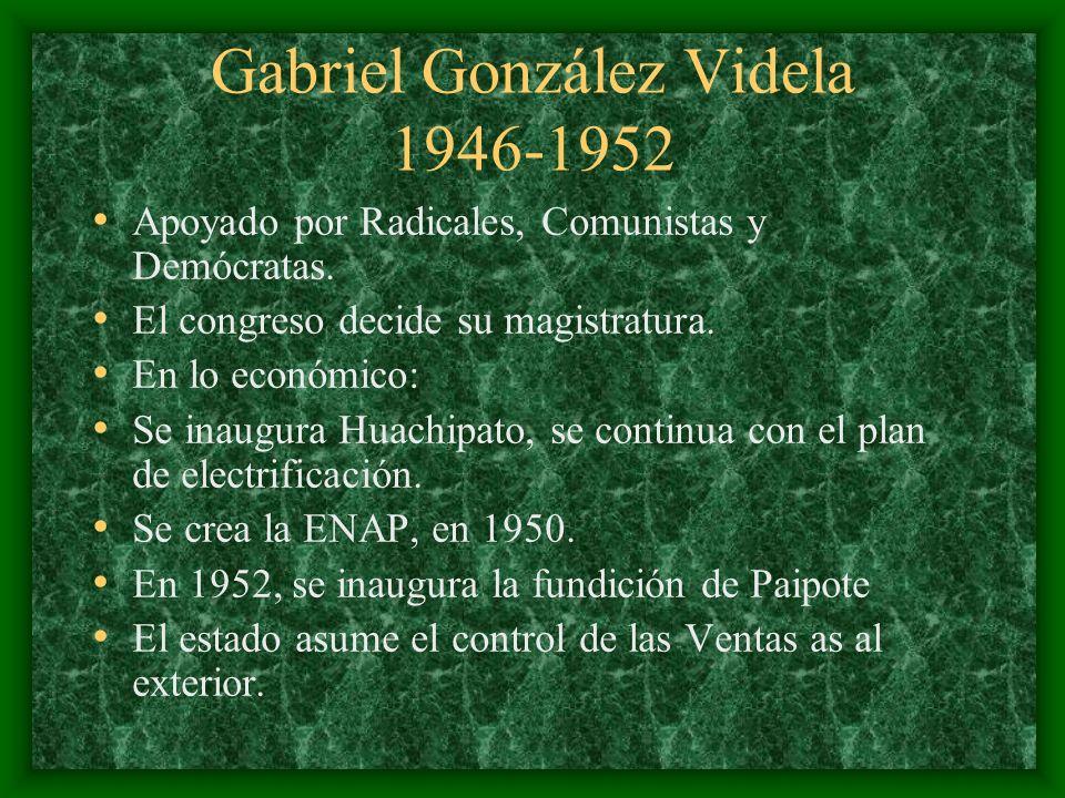 Gabriel González Videla 1946-1952