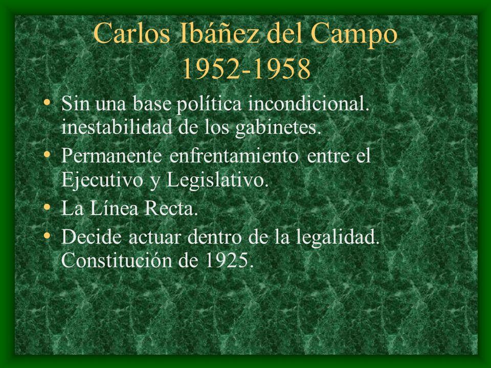 Carlos Ibáñez del Campo 1952-1958