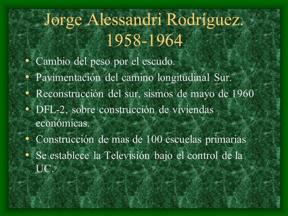Jorge Alessandri Rodríguez. 1958-1964