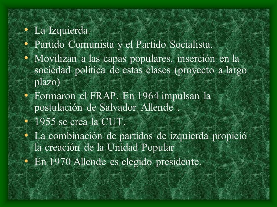 La Izquierda. Partido Comunista y el Partido Socialista.