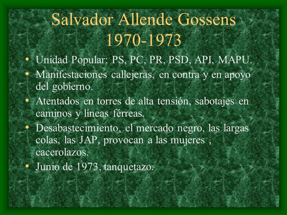 Salvador Allende Gossens 1970-1973