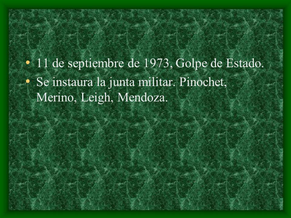 11 de septiembre de 1973, Golpe de Estado.
