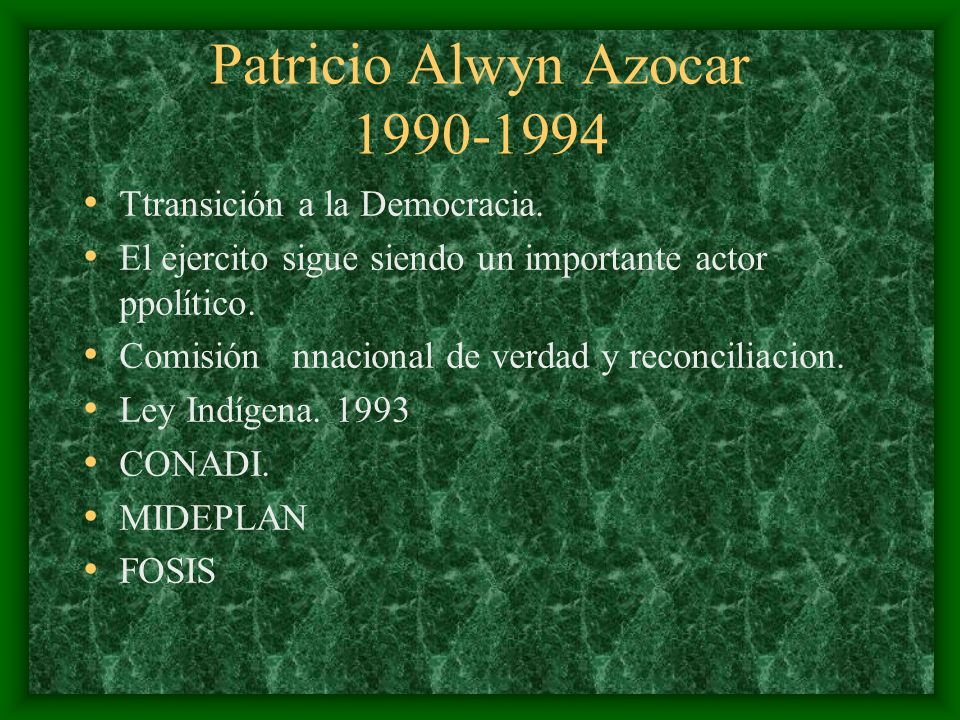 Patricio Alwyn Azocar 1990-1994