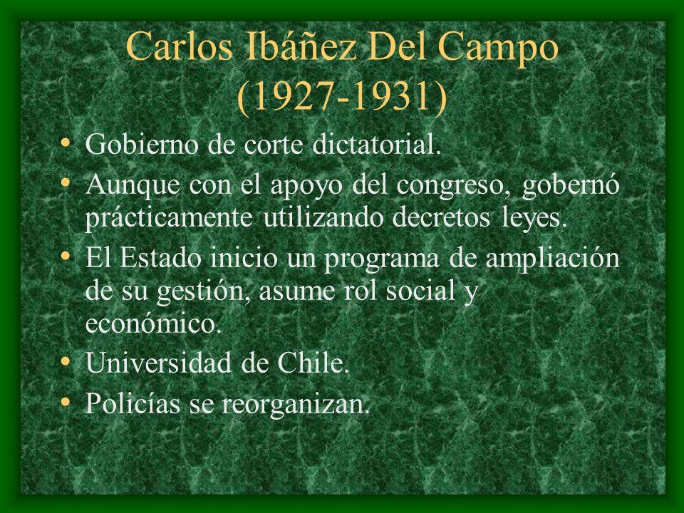 Carlos Ibáñez Del Campo (1927-1931)