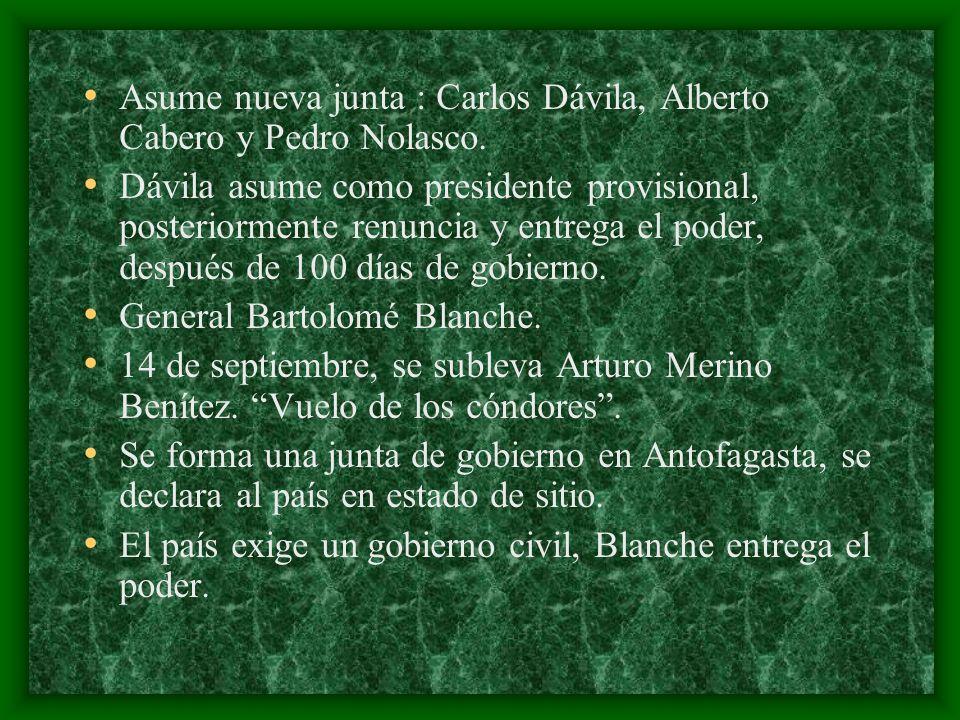 Asume nueva junta : Carlos Dávila, Alberto Cabero y Pedro Nolasco.