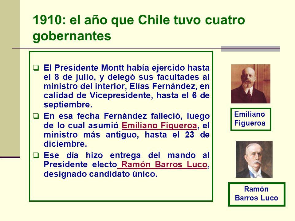 1910: el año que Chile tuvo cuatro gobernantes