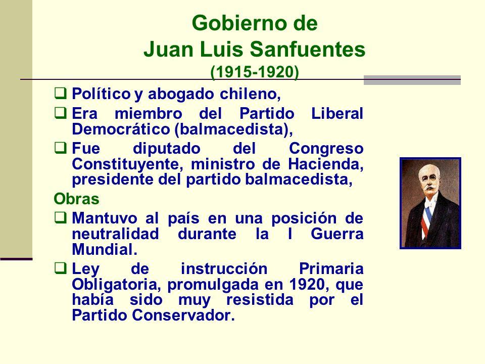 Gobierno de Juan Luis Sanfuentes (1915-1920)