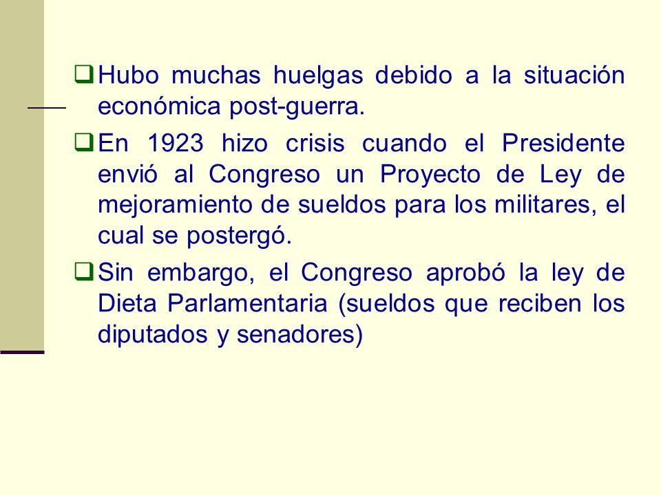 Hubo muchas huelgas debido a la situación económica post-guerra.