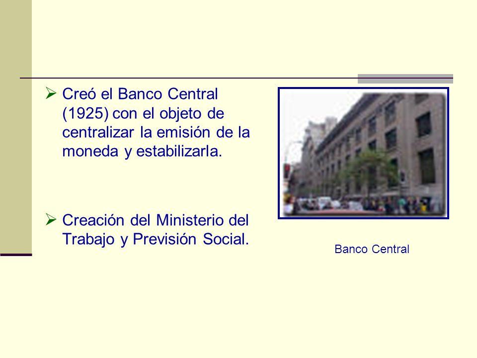Creación del Ministerio del Trabajo y Previsión Social.