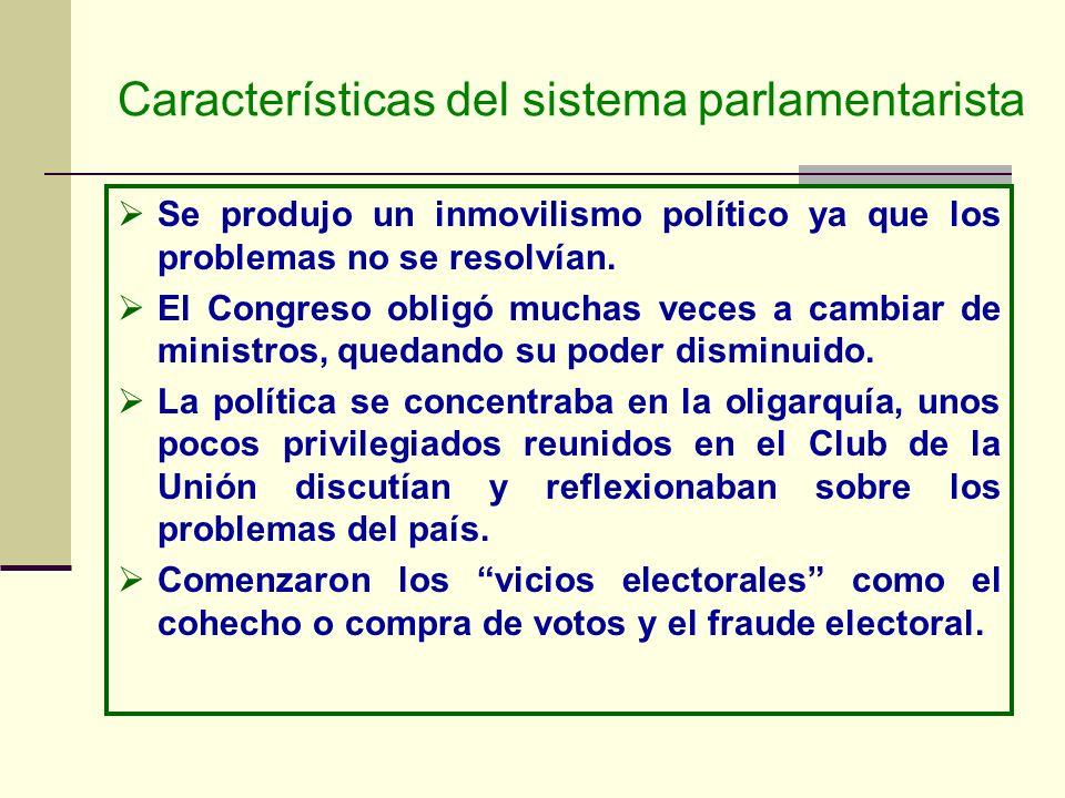 Características del sistema parlamentarista