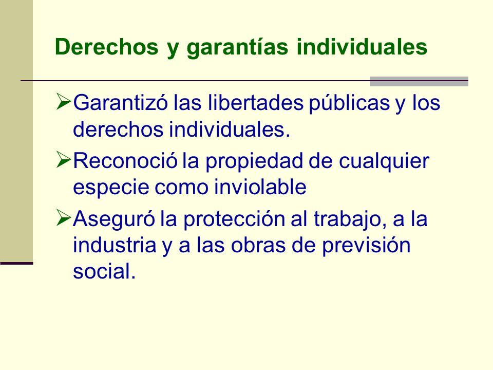 Derechos y garantías individuales