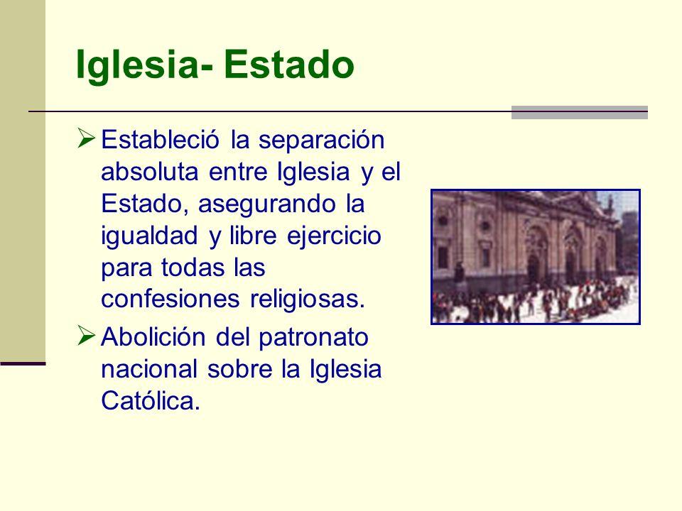 Iglesia- Estado