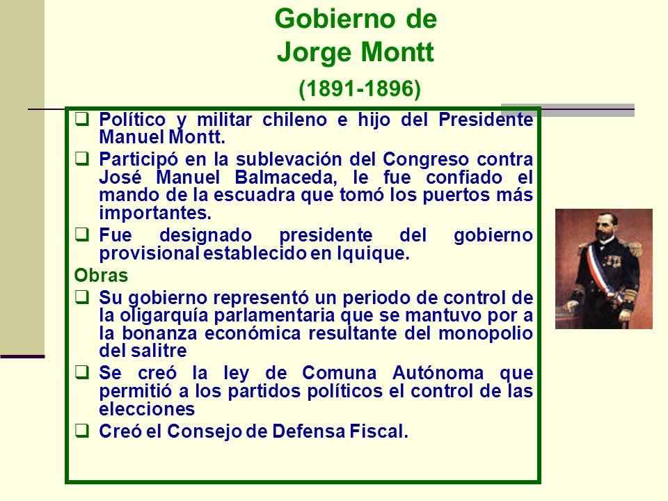 Gobierno de Jorge Montt (1891-1896)
