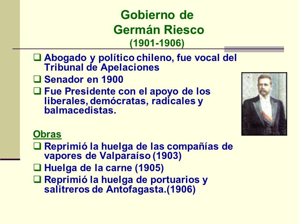 Gobierno de Germán Riesco (1901-1906)