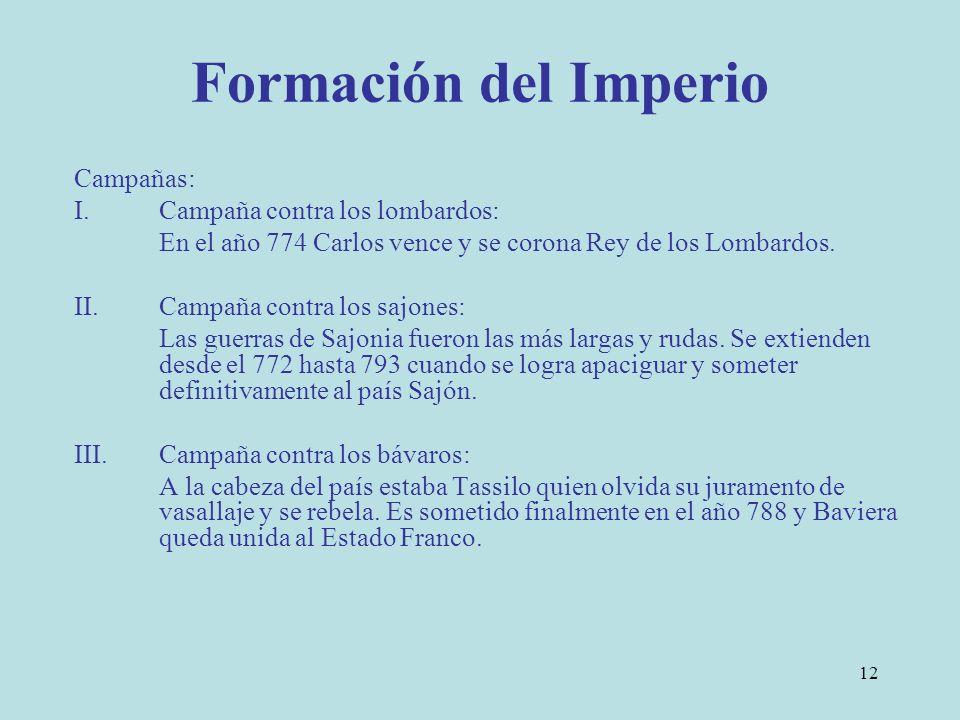 Formación del Imperio Campañas: Campaña contra los lombardos: