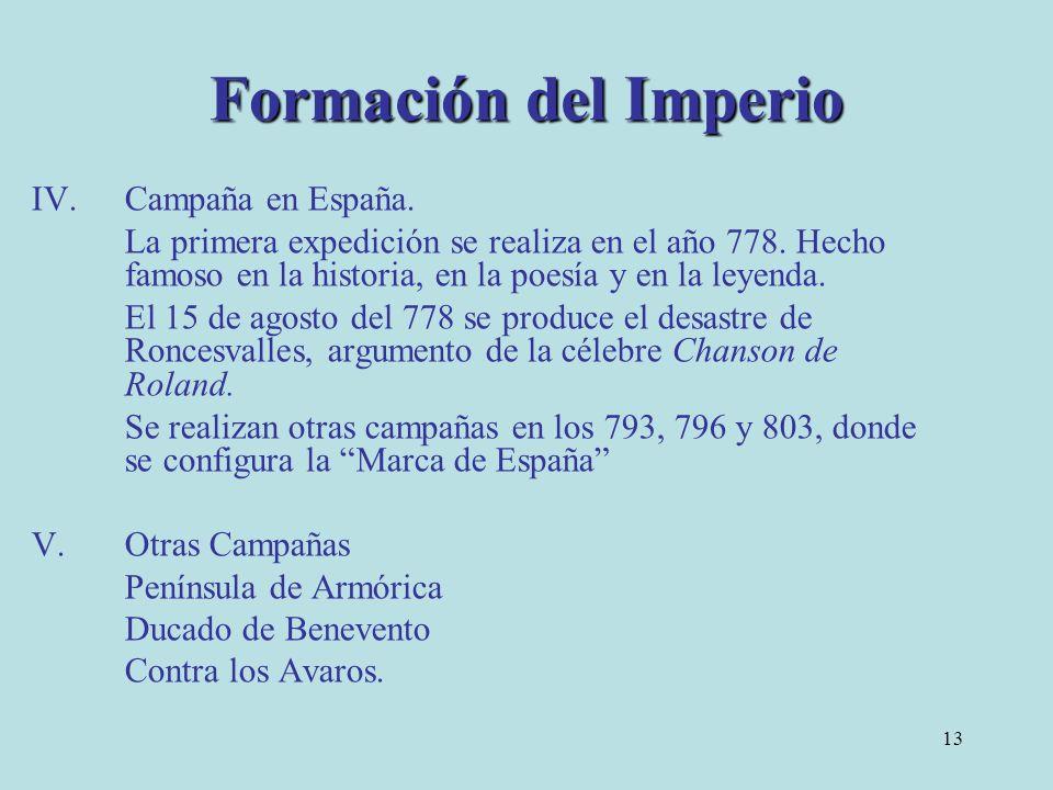 Formación del Imperio Campaña en España.