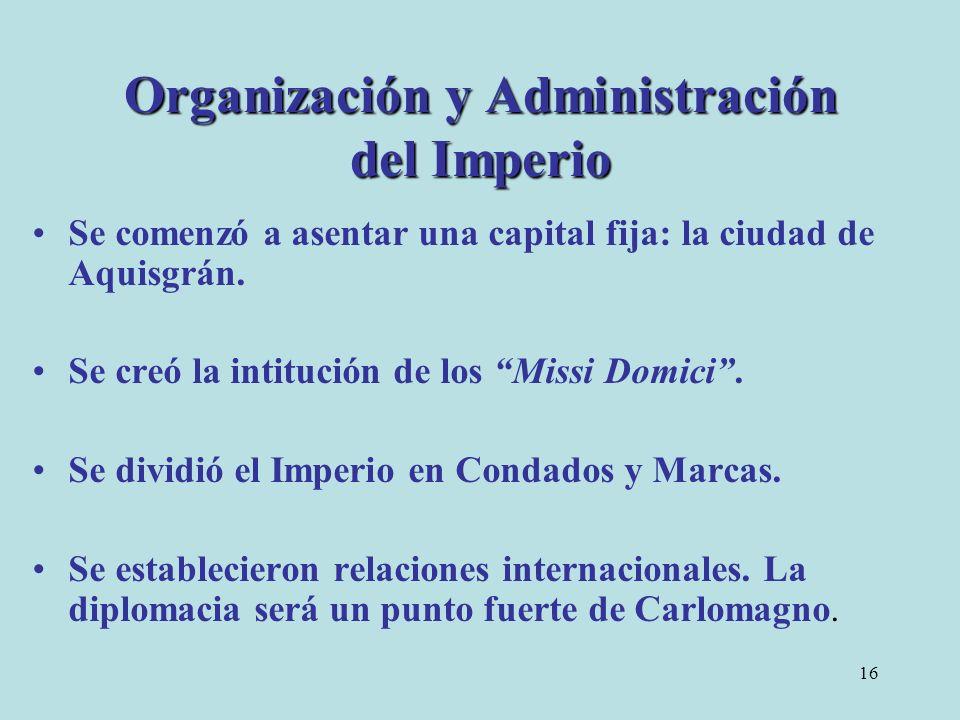 Organización y Administración del Imperio