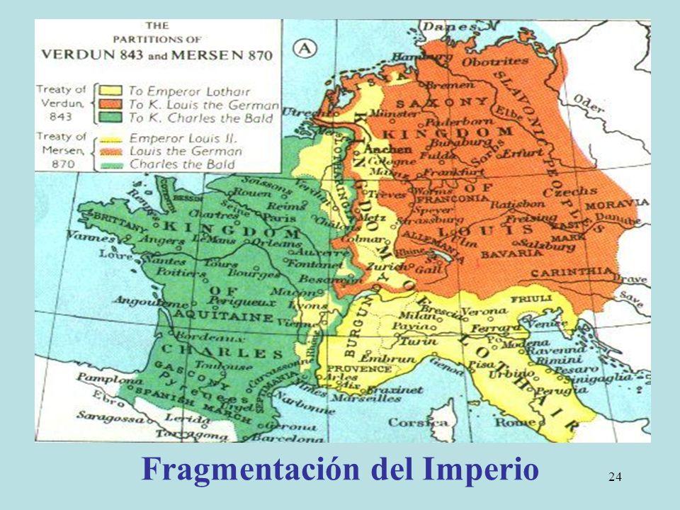 Fragmentación del Imperio