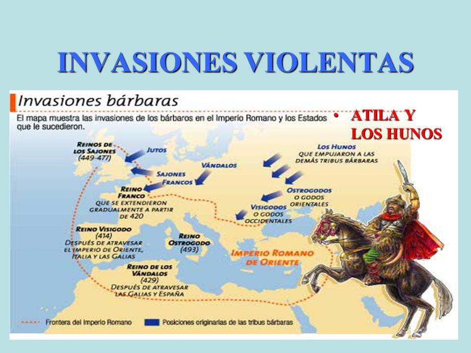 INVASIONES VIOLENTAS ATILA Y LOS HUNOS