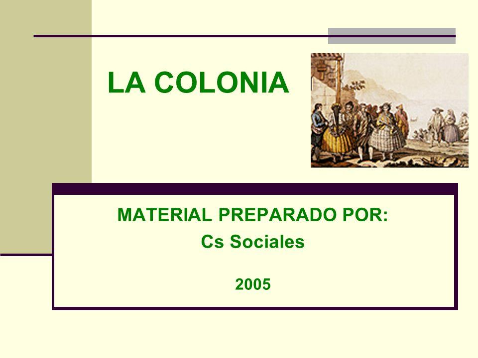 MATERIAL PREPARADO POR: Cs Sociales 2005
