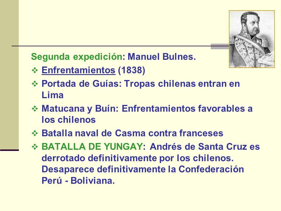 Segunda expedición: Manuel Bulnes.