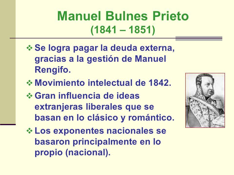 Manuel Bulnes Prieto (1841 – 1851)
