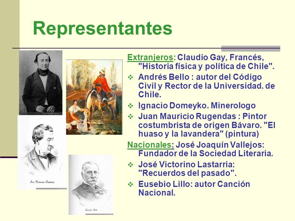 Representantes Extranjeros: Claudio Gay, Francés, Historia física y política de Chile .
