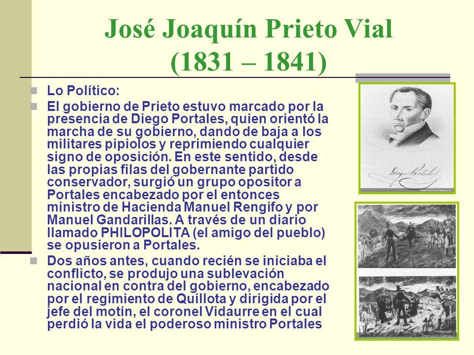 José Joaquín Prieto Vial (1831 – 1841)