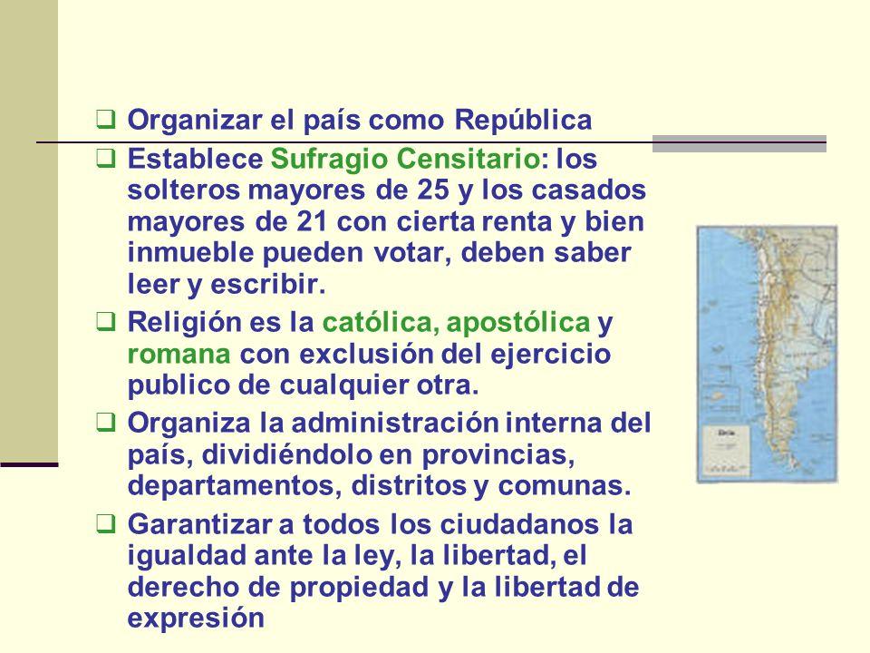 Organizar el país como República