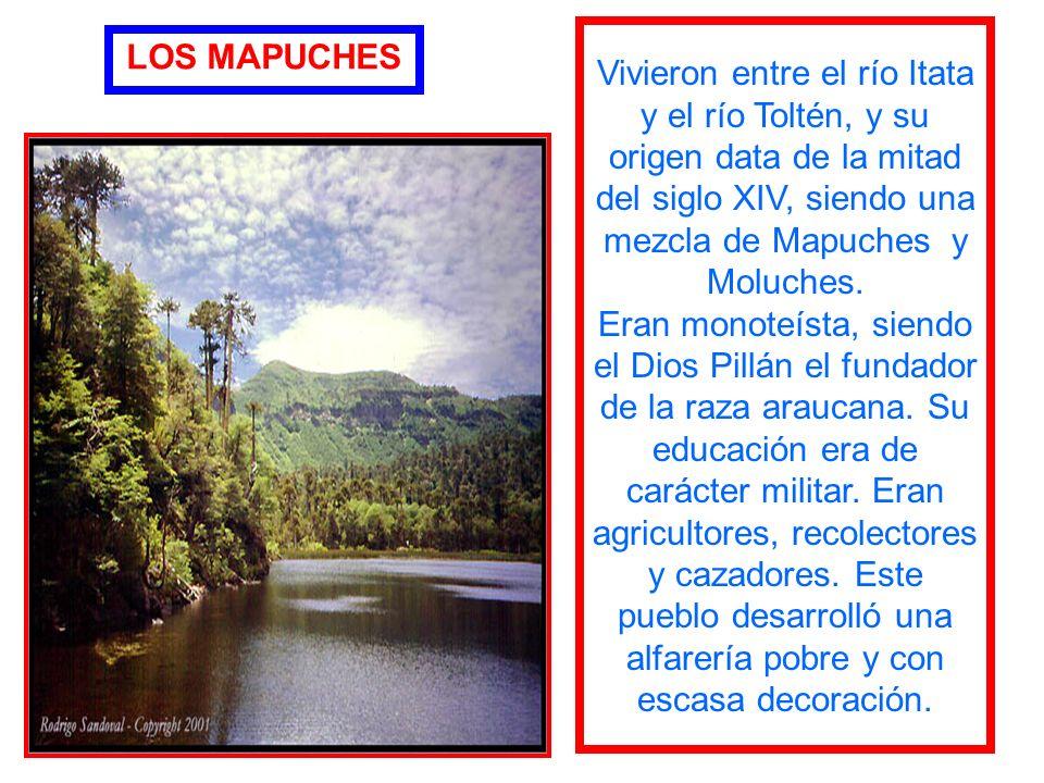 Vivieron entre el río Itata y el río Toltén, y su origen data de la mitad del siglo XIV, siendo una mezcla de Mapuches y Moluches.