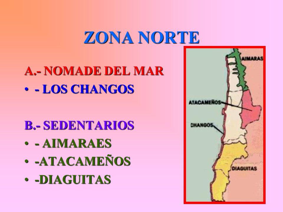 ZONA NORTE A.- NOMADE DEL MAR - LOS CHANGOS B.- SEDENTARIOS - AIMARAES