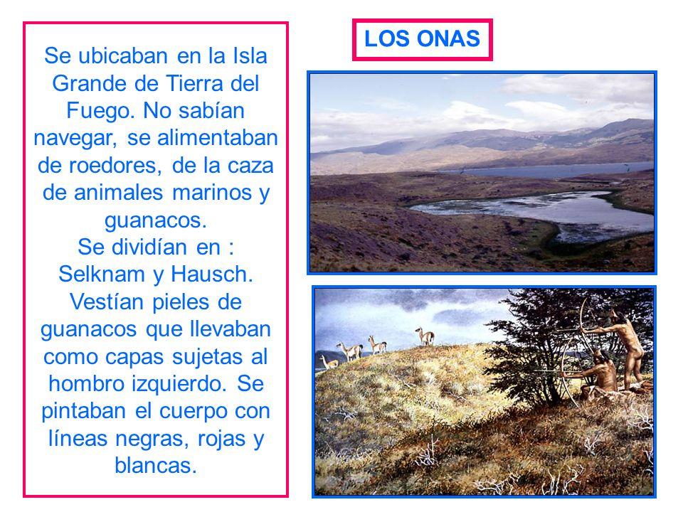 Se ubicaban en la Isla Grande de Tierra del Fuego