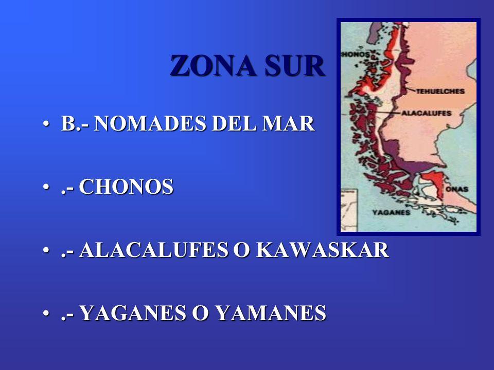 ZONA SUR B.- NOMADES DEL MAR .- CHONOS .- ALACALUFES O KAWASKAR